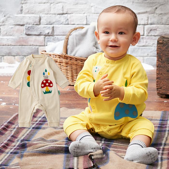 411a0277a3c7b  ベビー  Petitjam いもむしカバーオール ベビー赤ちゃんベビー服ウェアウエアロンパースカバーオール