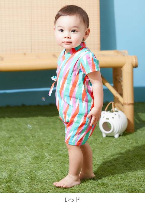 253aa7db05b2b  ベビー  Caldia 甚平ロンパースベビー服赤ちゃん男の子女の子ロンパースかわいい綿エンジェリーベ
