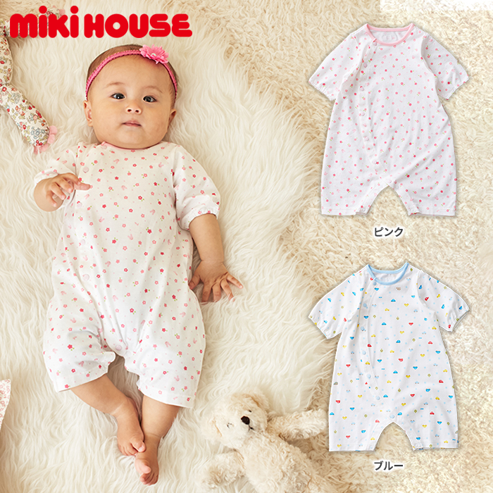 Short Sleeve Jumpsuits Cars Flowers Pattern Newborn Baby Cloth Boy New Born Mikihouse