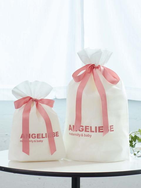 マタニティ 授乳服とベビーのエンジェリーベ 大切な贈り物に ラッピングバッグ M~L 超人気 商店 10%OFFクーポン対象 プレゼントラッピング