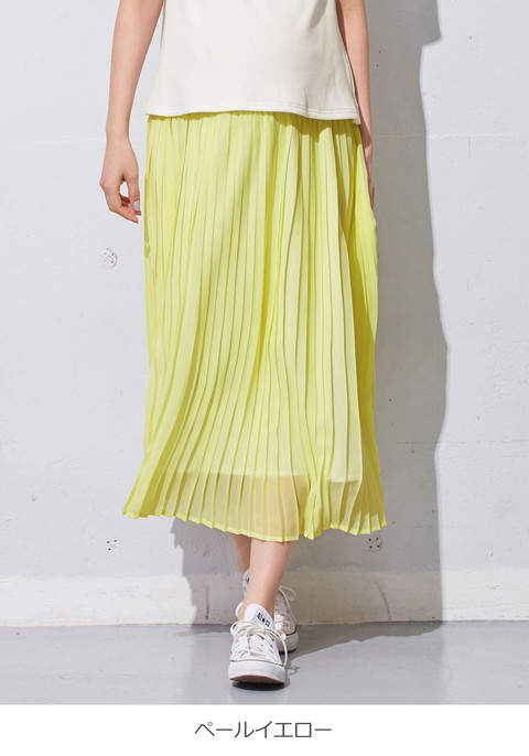 4adee42bef ANGELIEBE maternity baby: Chiffon pleated skirt | Rakuten Global Market