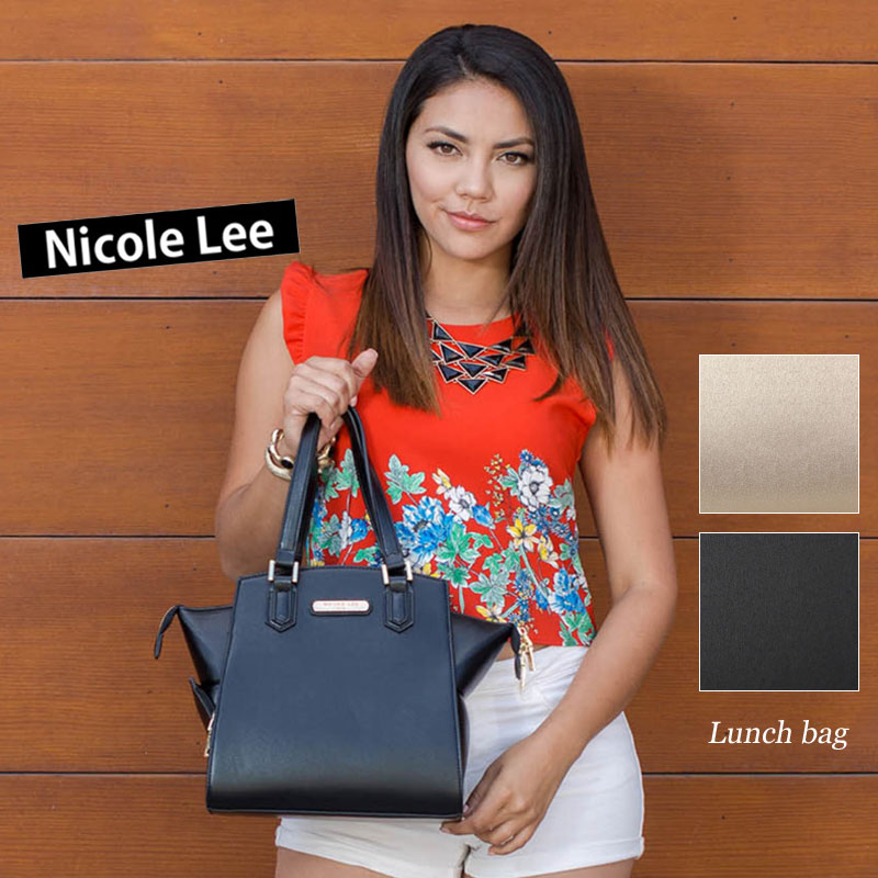 Classical woman Nicole Lee publication spade black gold bag celebrity  authorized agent with the NICOLE LEE Nicole Lee LUN12208 Shin pull Rich  lovely