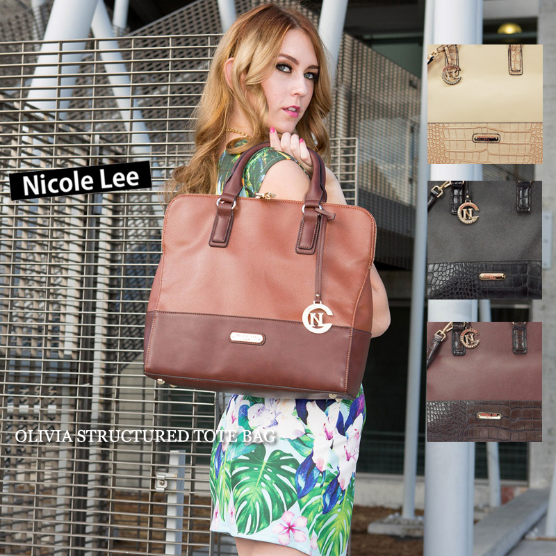 f15f36415c9 6/10 new in stock! 2015 new! NICOLE LEE Nicolle (LSR10606  OLIVIASTRUCTUREDTOTEBAG ...
