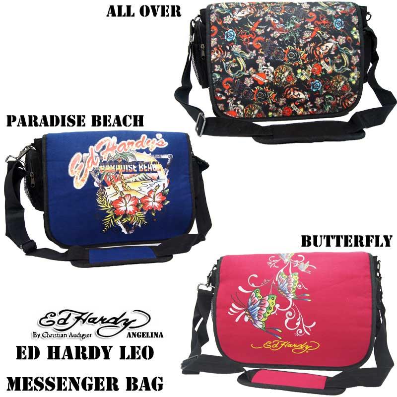 686374cbbba2 9 30 reentry load! Edo Hardie longtime seller! Ed Hardy Leo Paradise Beach  All Over Butterfly Messenger Bag (Ed Hardy regular article Christian Aude  Jeh ...