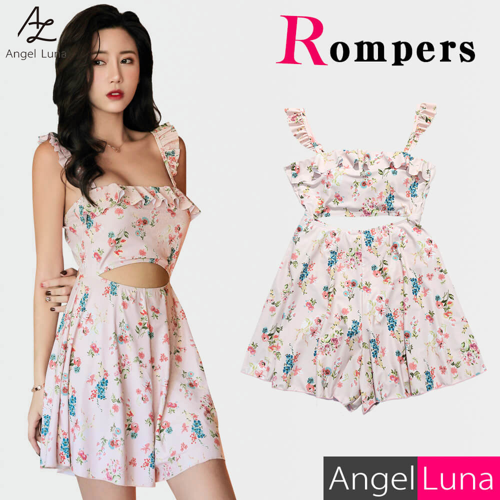 Style up all-in-one floral design sea pool 2019 new work y with a built-in  entering one swimsuit Lady's dress type non wire pat pink M L figure cover