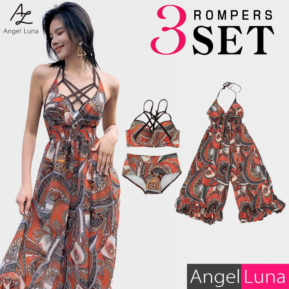 Sea pool 2019 new work home delivery RST where entering pat brown system M  L figure cover paisley hips gathered flare style underwear with swimsuit