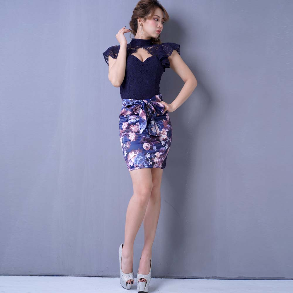 新商品Dress Angelo ドレス キャバ ドレスキャバ ナイトドレス パーティードレス フラワープリントリボンセットアップミニドレス パーティードレス キャバドレス 0697キャバドレス キャバクラドレス キャバ嬢ドレス ミニ ミニドレス ワンピースECrQeWdxBo