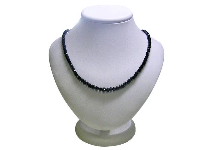 K18WGブラックダイヤモンドネックレス(BD 60ctUP)鑑別書付