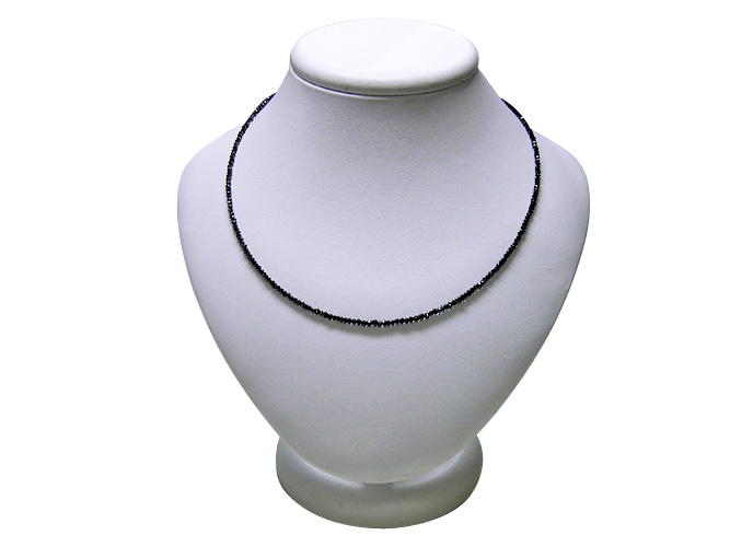 K18WGブラックダイヤモンドネックレス(D 10.0ctUP)