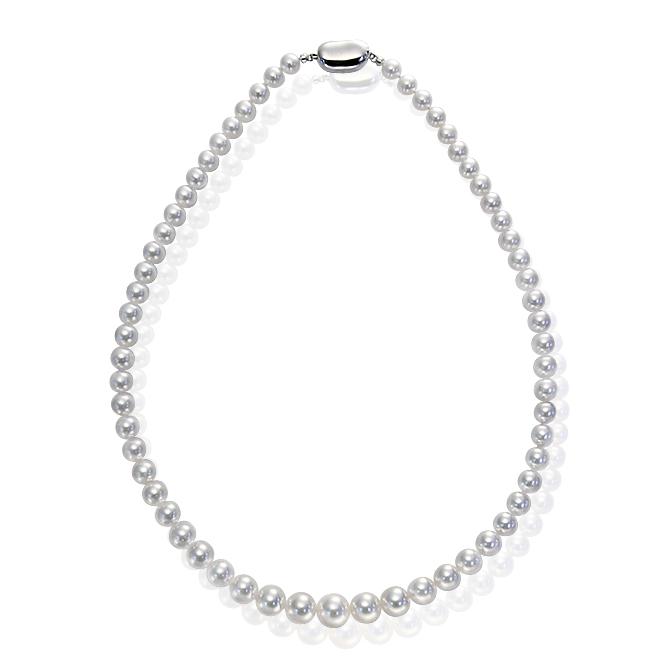 【逆オク現在38%↓】あこや花珠真珠ネックレス(6~9mm)鑑別書付