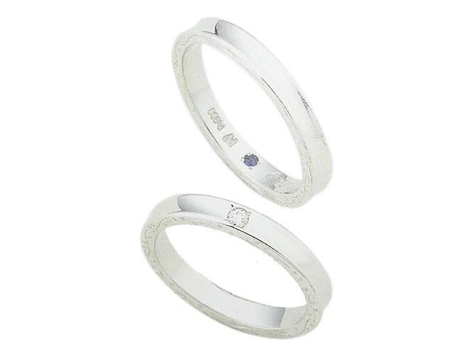 【卸屋さん割引あります!】K18WGアンジュ結婚指輪(D 0.03ct)W10032