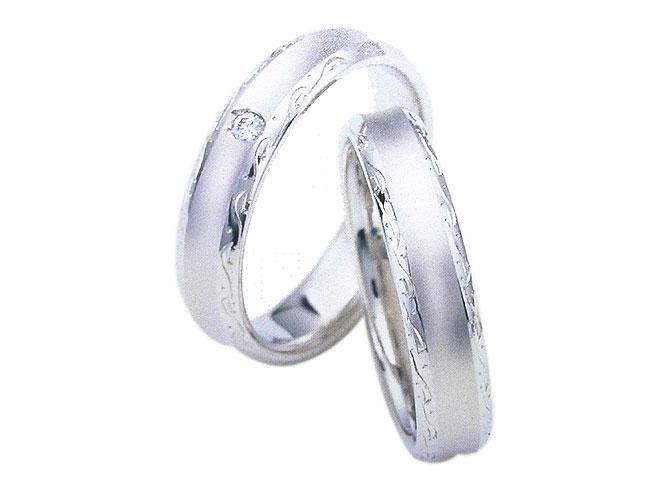 【卸屋さん割引あります!】K18WGアンジュ結婚指輪W10035