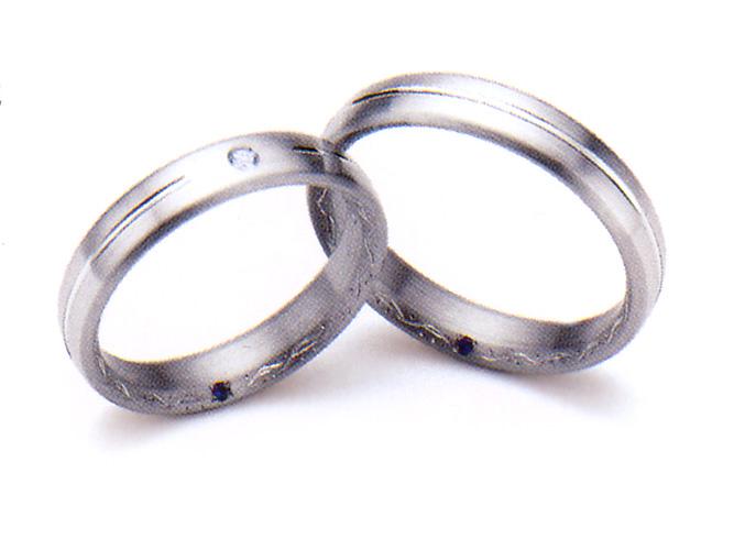 【卸屋さん割引あります!】K18WG/Pt900アンジュ結婚指輪(D 0.02ct)5610038
