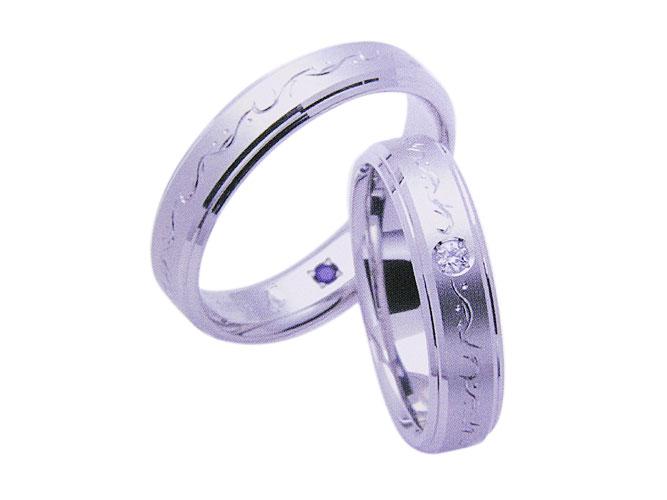 【卸屋さん割引あります!】K18WGアンジュ結婚指輪W10071