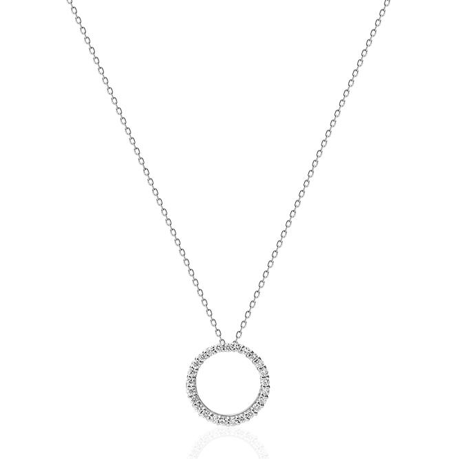 Pt900/Pt850プラチナダイヤモンドネックレス(0.12ct)