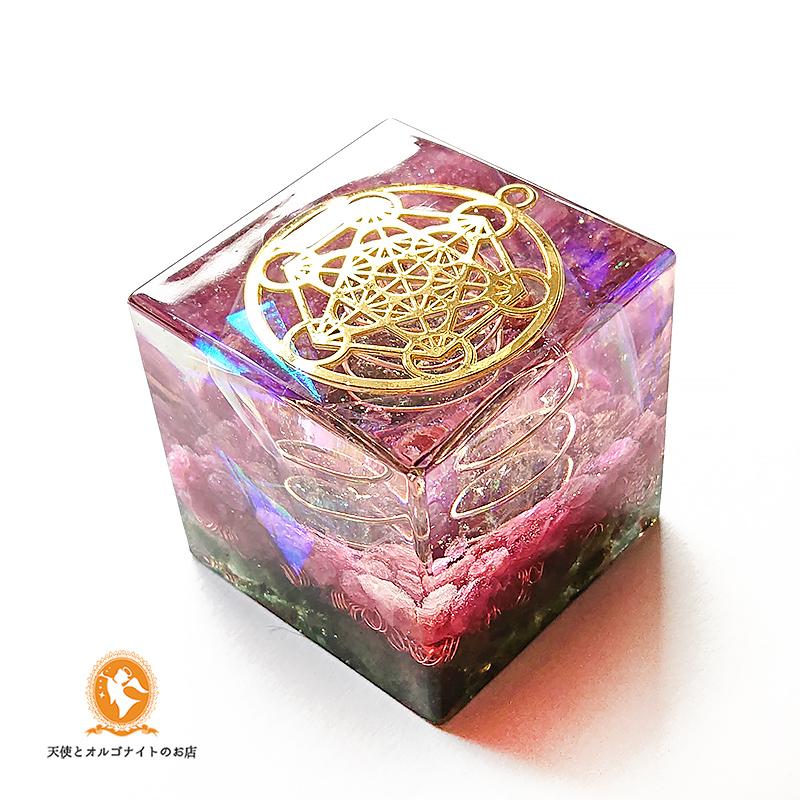 大天使メタトロンのオルゴナイトキューブ フルーツオブライフ ギフト 贈り物 プレゼント