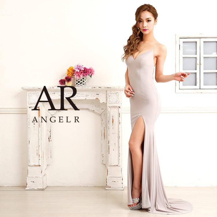 AngelR エンジェルアール [ストレッチスリットマーメイドロングドレス]ロングドレス マーメイドドレス Aライン ロングスリット ビジュー ストーン 細い パーティー 女子会|高級キャバドレス AngelR(エンジェルアール) あす楽 AR8222