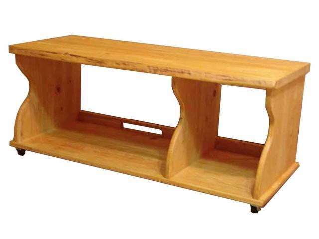 テレビ台 45型 天然木天板 ナチュラル w100d44h35cm キャスターつき プルデザイン 木製 ひのき オーダーメイド