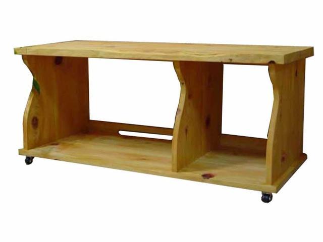 テレビ台 45型 自然木天板 ナチュラル w105d43h45cm キャスター付き 木製 ひのき オーダーメイド