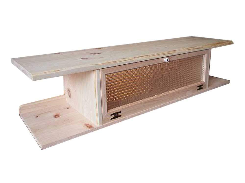 テレビ台 60型 自然木天板 無塗装白木 w137d40h31.5cm チェッカーガラス扉 木製 ひのき オーダーメイド