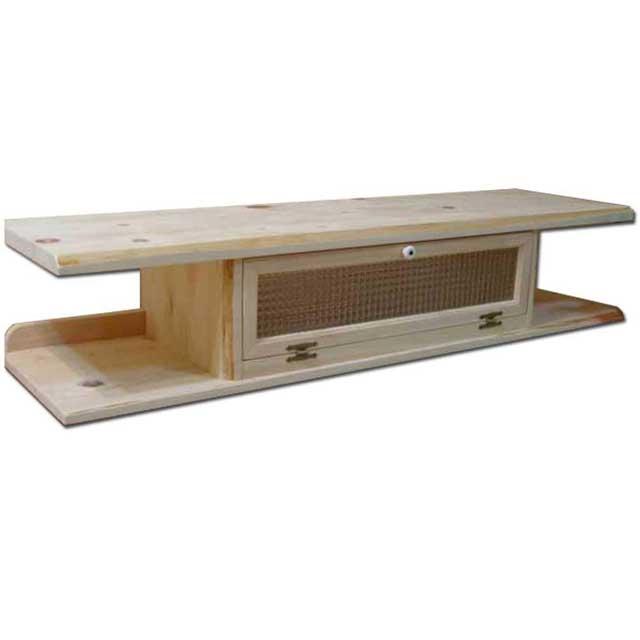 テレビ台 55型 自然木天板 無塗装白木 w125d36h26cm チェッカーガラス 木製 ひのき オーダーメイド