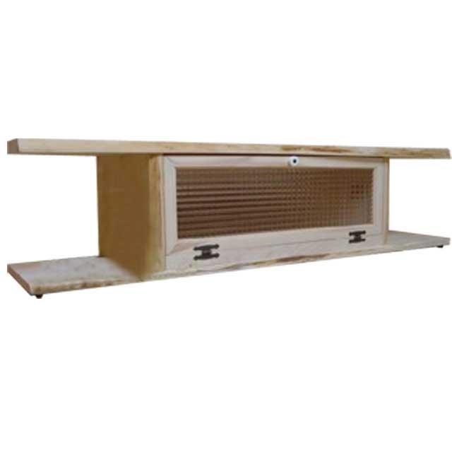テレビ台 50型 チェッカーガラス扉 無塗装白木 w120d36h30cm 自然木そのまま生かした天板 木製 ひのき オーダーメイド