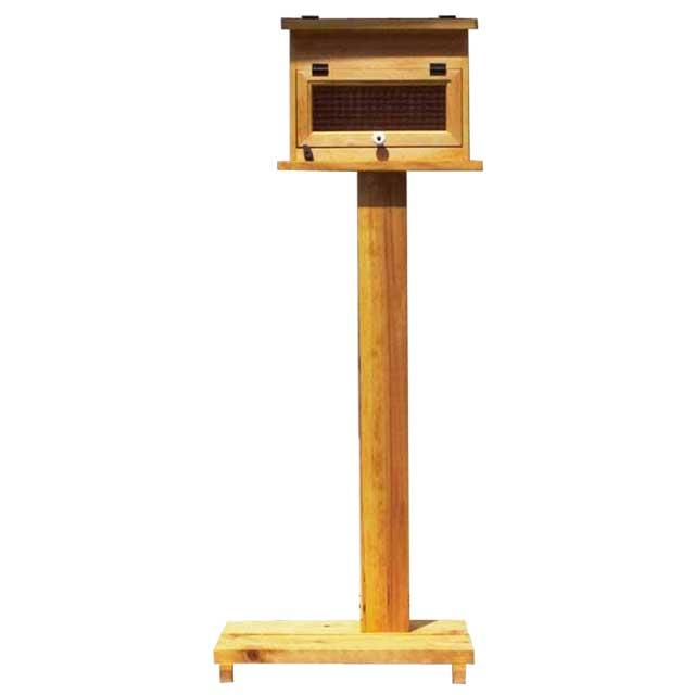 ポスト横型 木製 ひのき チェッカーガラス扉 奥行17cm MAILBOX 郵便受け 屋根フラット  オーダーメイド 1354963