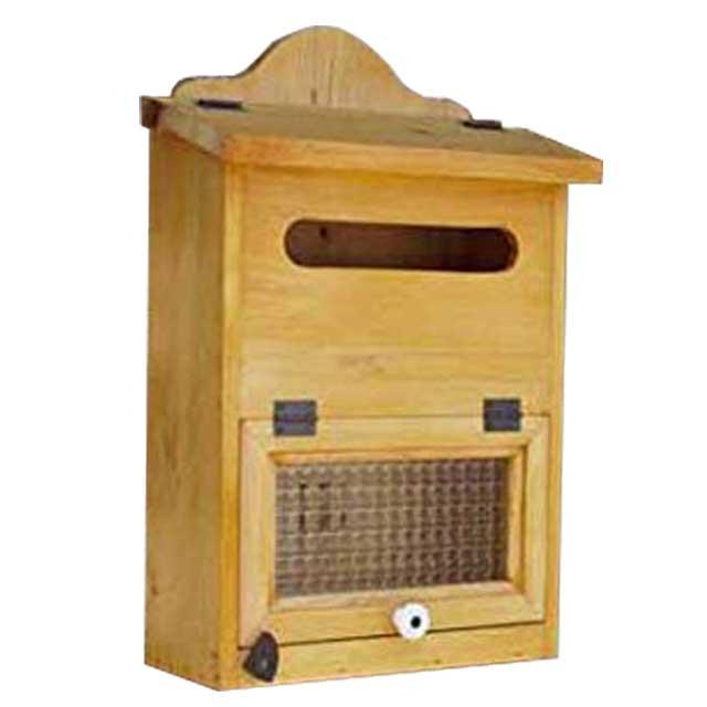 ポスト縦型 木製 ひのき 角2封筒がキチンと入るチェッカーガラス扉の木製縦型ポスト 郵便受け ナチュラル オーダーメイド 1327933