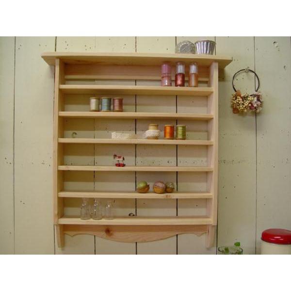 無塗装白木 木製コレクションシェルフ 奥行き広め(53×10×53cm) 北欧 受注製作