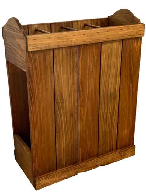 かさたて ストレートタイプ 40x20x50cm アンティークブラウン カントリー 木製 ひのき ハンドメイド オーダーメイド