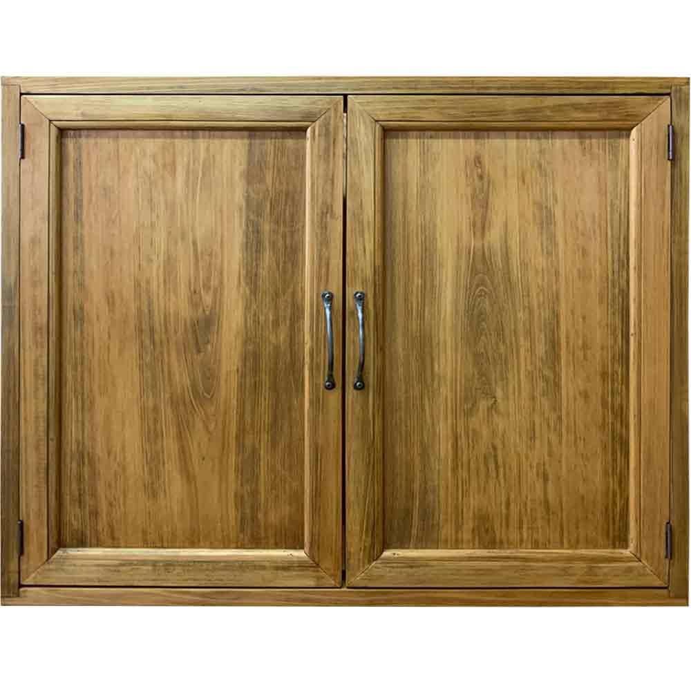 室内窓 採光窓 平丁番 木製扉 両面取っ手 マグネット仕様 70×15×60cm アンティークブラウン 木製 ひのき ハンドメイド オーダーメイド 1327933