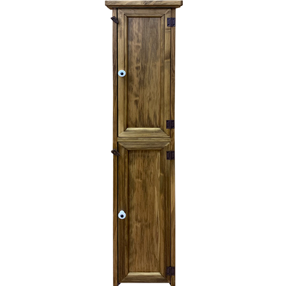 トイレットペーパーキャビネット トイレ収納 スリム アンティークブラウン 20×19×85cm 木製 ひのき ハンドメイド オーダーメイド