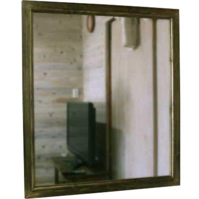 ミラー 鏡 アンティークブラウン w70d2h80cm 大型 木製 ひのき オーダーメイド