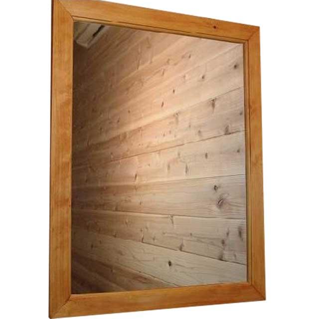 ミラー ナチュラル w50d2h65cm 壁掛け 木製 ひのき オーダーメイド
