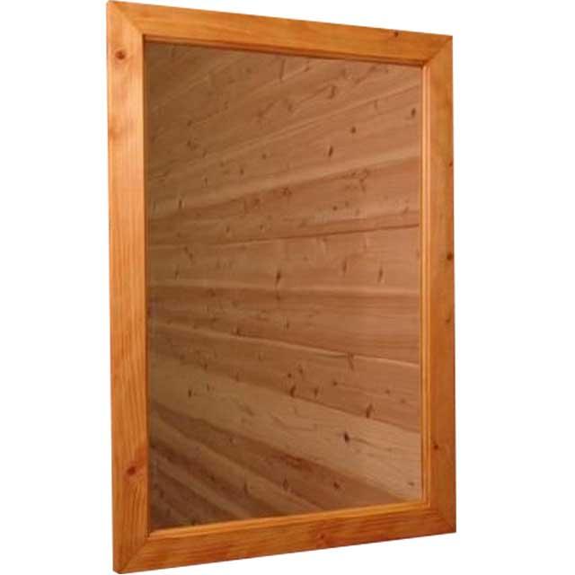 ミラー 壁掛け ナチュラル w45d2h60cm 木製フレーム 木製 ひのき オーダーメイド