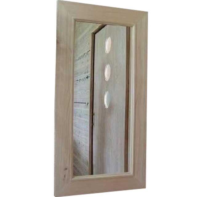 ミラー 太枠 無塗装白木 w45d2h90cm 鏡 木製 ひのき オーダーメイド