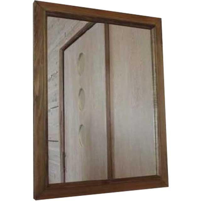アンティークブラウン 木製ミラー 鏡(50×60cm) 受注製作