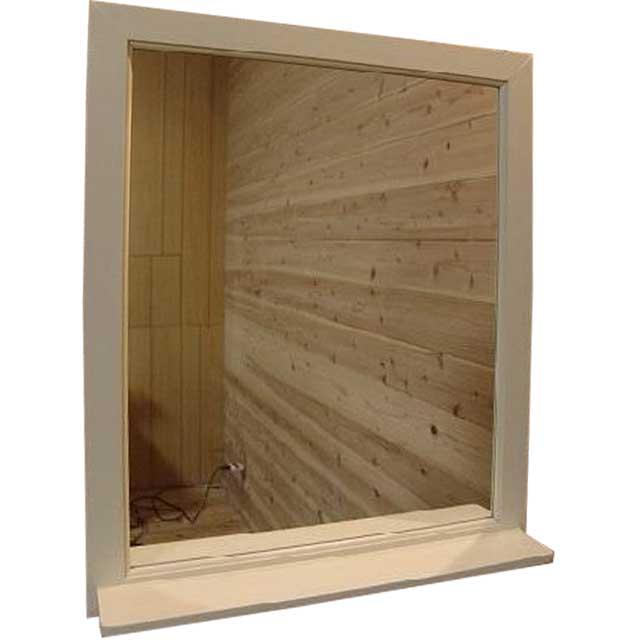棚付きミラー アンティークホワイト w50d9h60cm 木製 ひのき オーダーメイド