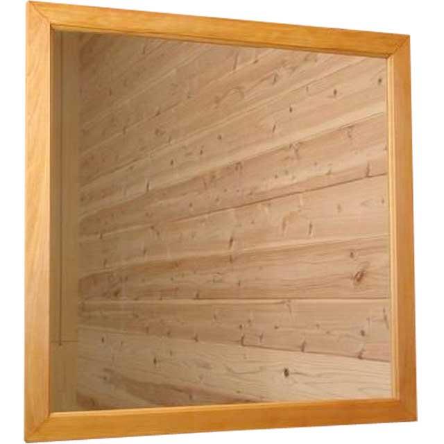 ナチュラル ひのきの木製正方形ミラー 鏡(70×70cm) 受注製作