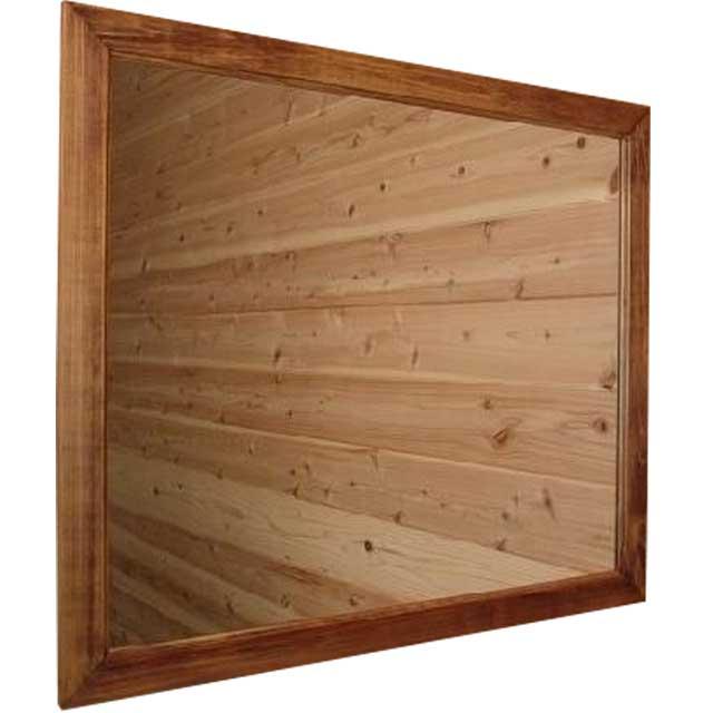 ミラー 横型 アンティークブラウン w70d2h60cm 大型 木製 ひのき オーダーメイド