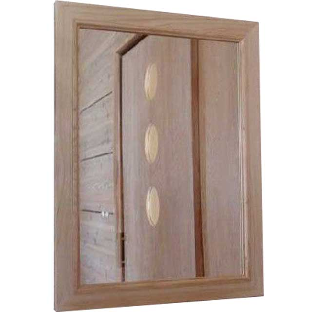 木製ミラー 無塗装白木 w45d2h60cm 鏡 木製 ひのき オーダーメイド