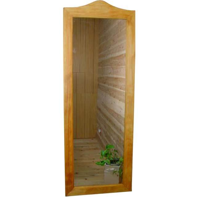 姿見鏡 ナチュラル w33d2h93cm スリムミラー 木製 ひのき オーダーメイド