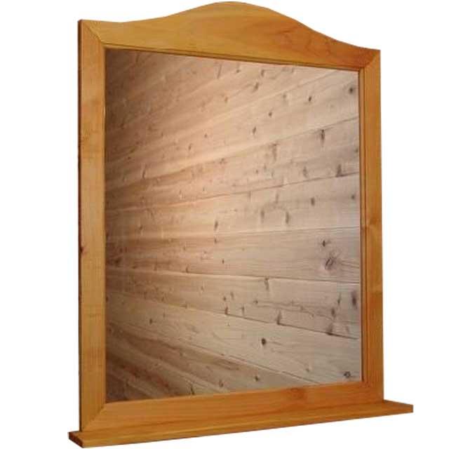 ミラーシェルフ ナチュラル w63d10h77cm 木製 ひのき オーダーメイド
