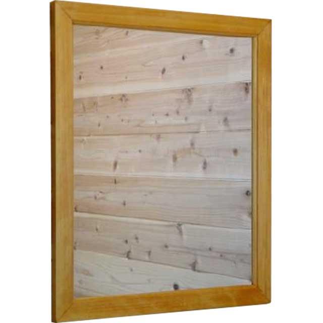 ミラー 壁掛け ナチュラル 鏡w50d2h60cm 木製 ひのき オーダーメイド
