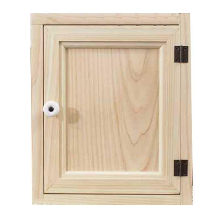 トイレットペーパーキャビネット 木製扉 無塗装白木 ニッチ用 25x15x30cm サニタリーキャビネット 木製 ひのき オーダーメイド