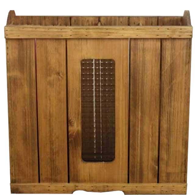 かさたて 木製 ひのき チェッカーガラス 木製傘立て たっぷり収納サイズ 50×20×70cm アンティークブラウン オーダーメイド 1134626