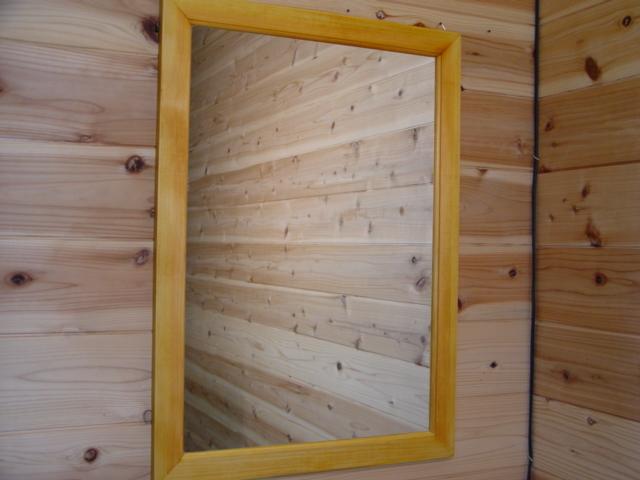 ナチュラル 木製ミラー 鏡 (50×70cm) 受注製作