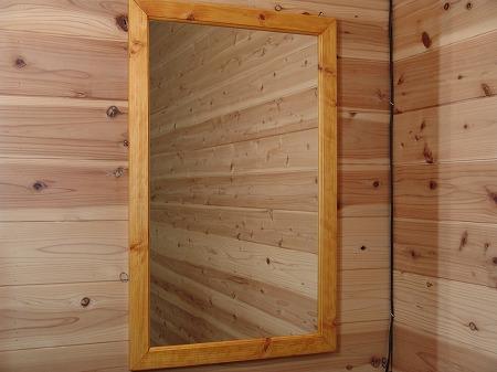 ナチュラル 木製ミラー 鏡 (50×80cm) 受注製作