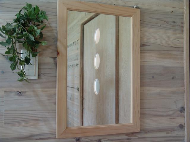 無塗装白木 木製ミラー(40×60cm) 受注製作