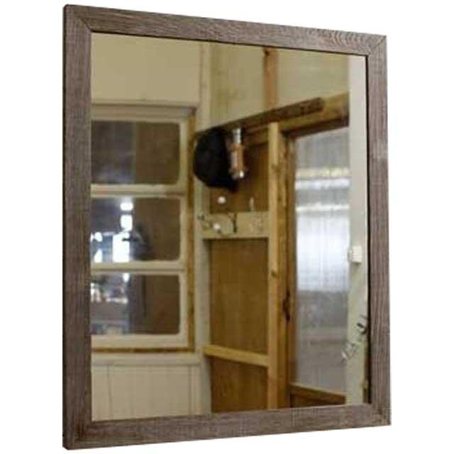ミラー 木製鏡 バーンウッド w50d2h60cm 木製 ひのき オーダーメイド